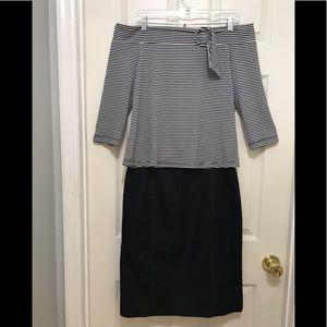 Tribal Top W/ Isabella DeMarco Skirt M Jewelry Set